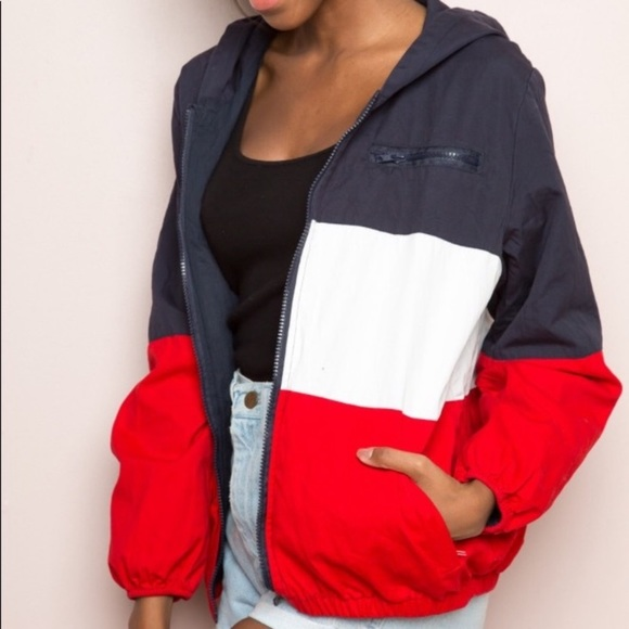 Brandy Melville Jackets & Blazers - Red, white and blue Brandy Melville windbreaker.
